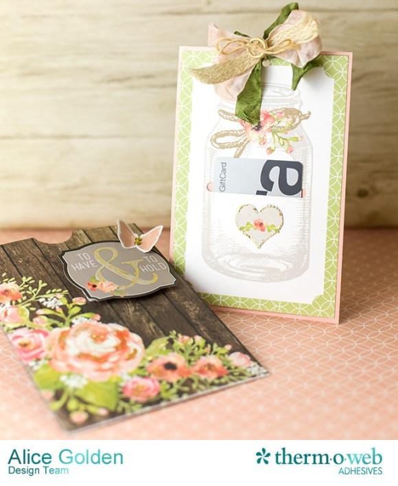 Alice Golden DecoFoil Rustic Elegance Wedding Gift Card Holder 11