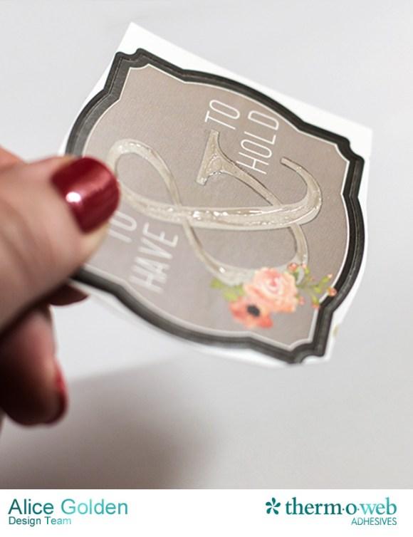 Alice Golden DecoFoil Rustic Elegance Wedding Gift Card Holder 3