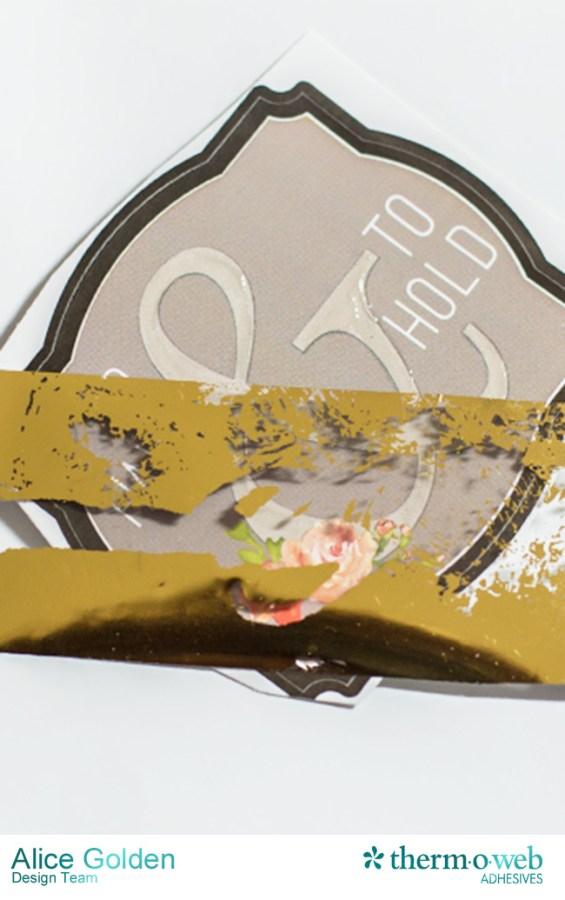 Alice Golden DecoFoil Rustic Elegance Wedding Gift Card Holder 4