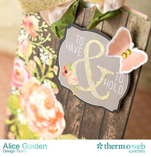 Alice Golden DecoFoil Rustic Elegance Wedding Gift Card Holder 5