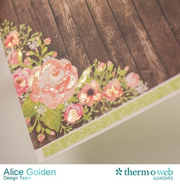 Alice Golden DecoFoil Rustic Elegance Wedding Gift Card Holder 7