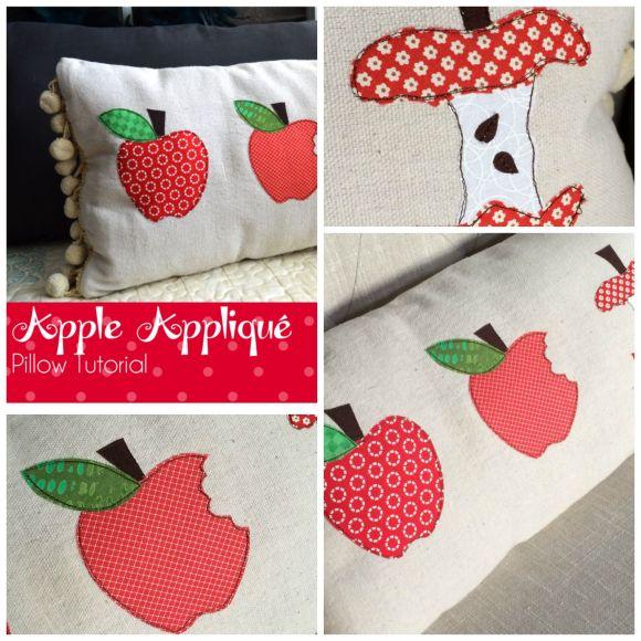 HeatnBond Apple Applique Pillow