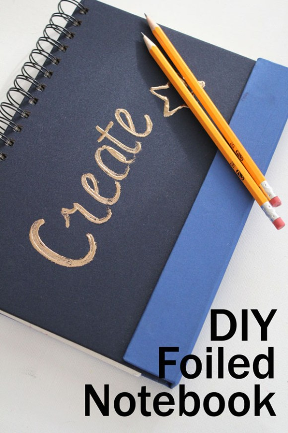 DIY Foiled Notebook - simple to make with no fancy tools or machines!