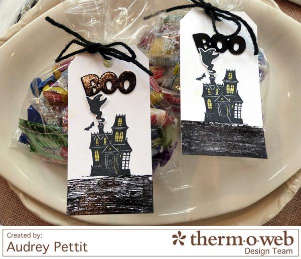 AudreyPettit Thermoweb DecoFoil BooTags