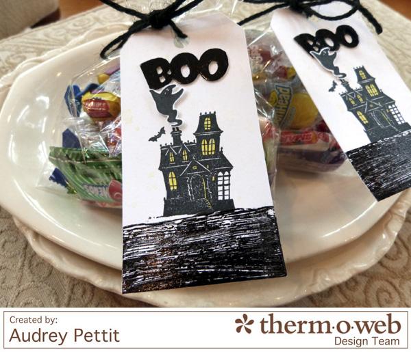 AudreyPettit Thermoweb DecoFoil BooTags2