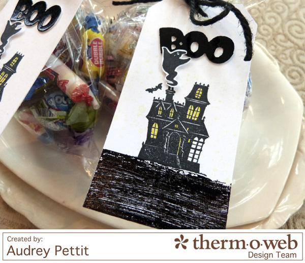 AudreyPettit Thermoweb DecoFoil BooTags3