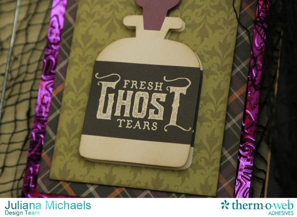Halloween Clip Frame with 3x4 Cards featuring Therm_O_Web Decofoil and Adhesives by Juliana Michaels