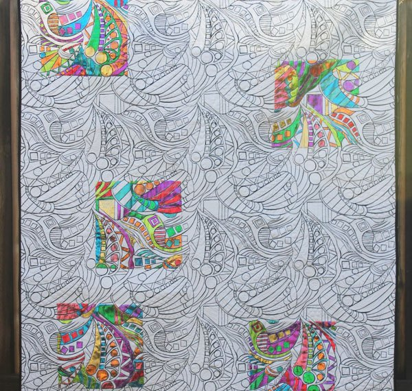 Coloring Book Quilt using Thermoweb iCraft Decofoils