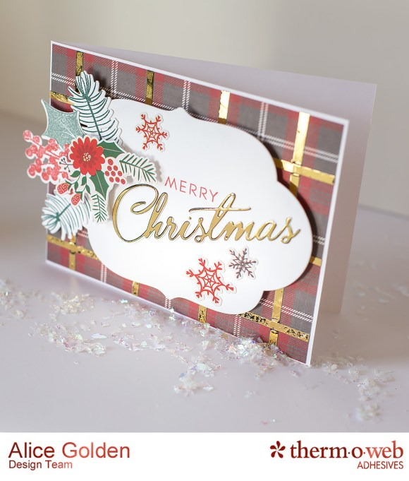 Alice Golden TOW Foiled Christmas Card and Ornament 12