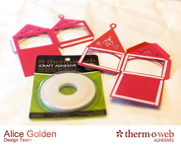 Alice Golden TOW Foiled Christmas Card and Ornament 2
