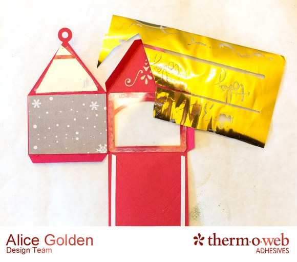 Alice Golden TOW Foiled Christmas Card and Ornament 3