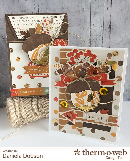 Thanks card and gift bag by Daniela Dobson