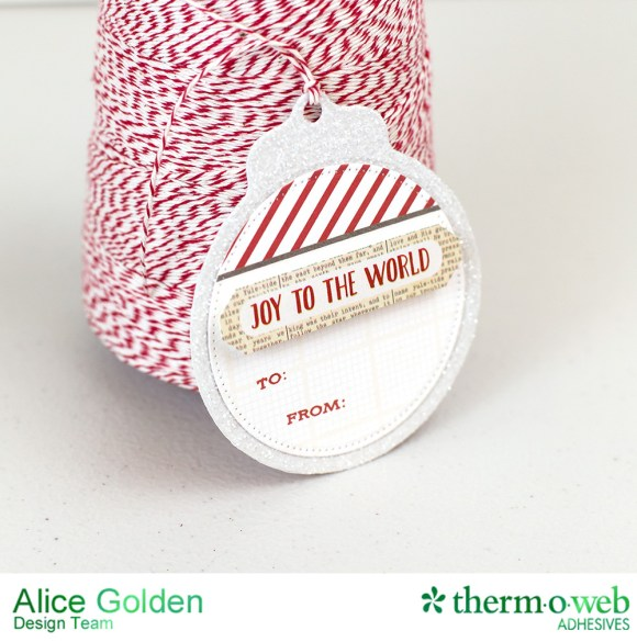 Alice Golden TOW Photo Play iCraft Glittered Tags 11