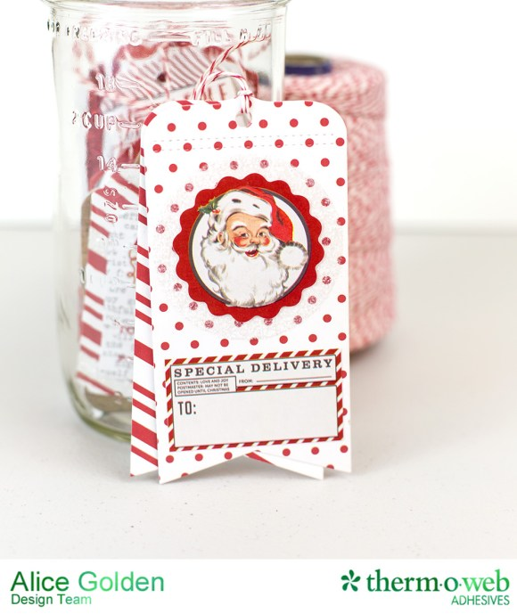 Alice Golden TOW Photo Play iCraft Glittered Tags 12