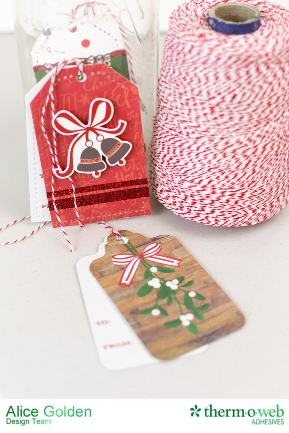 Alice Golden TOW Photo Play iCraft Glittered Tags 7