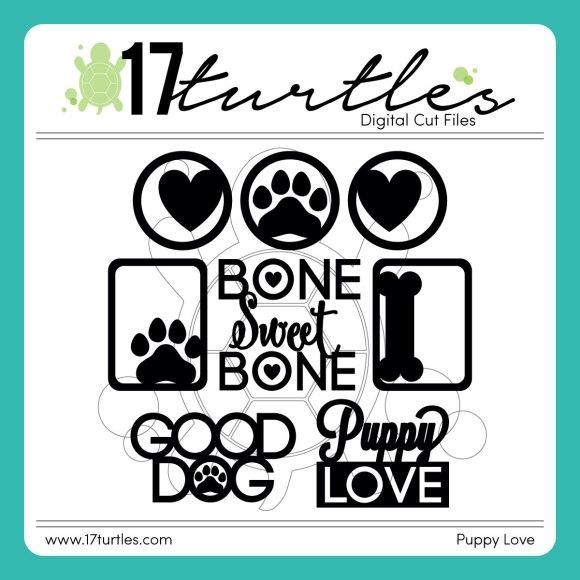 Puppy Love Digital Cut File by Juliana Michaels