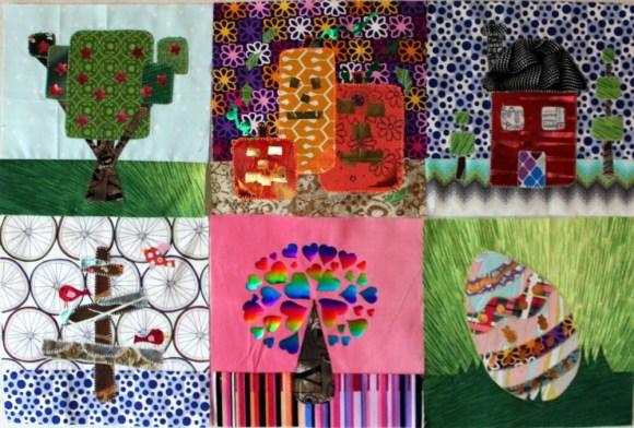 six decofoil block of the month blocks