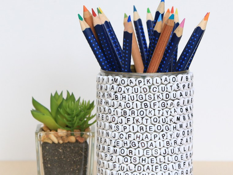 Recycled Tin Can Pencil Holder by Juliana Michaels featuring Therm O Web Sticky Lines Clear Adhesive