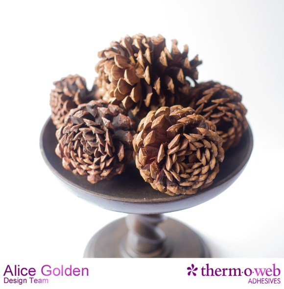 Alice Golden TOW Glitter Dust Pine Cone Flowers 1