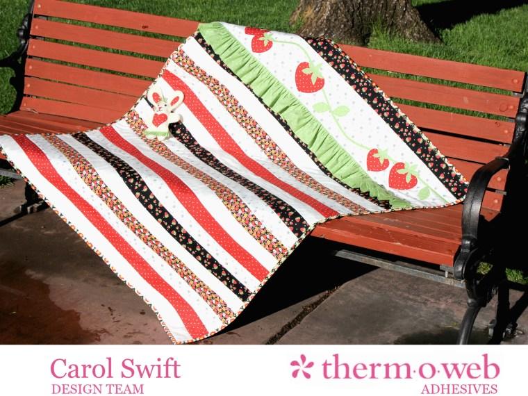 Strawberry Rows Quilt Carol Swift HeatnBond