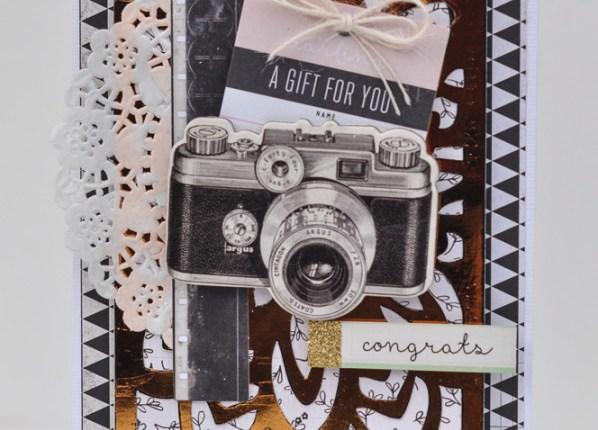 Deco Foil Congrats Card by Katrina Hunt