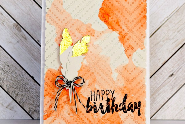 Taylored Expressions Watercolor Deco Foil Card