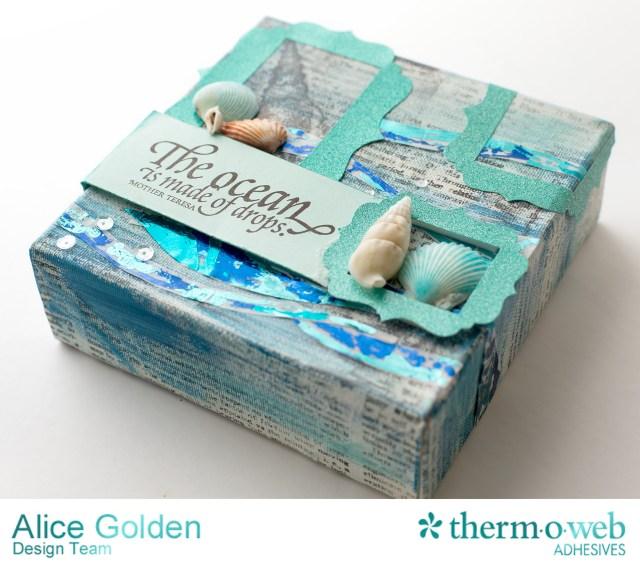 TOW Ocean Mixed Media Canvas Alice Golden 5