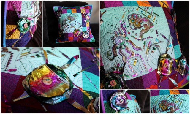 Collage of pillow details