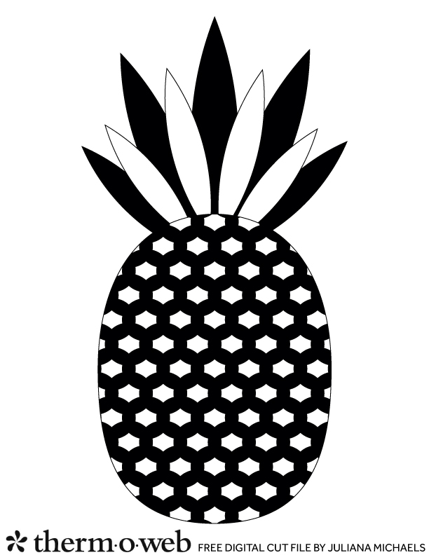 Be A Pineapple Free Digital Cut File by Juliana Michaels for Therm O Web