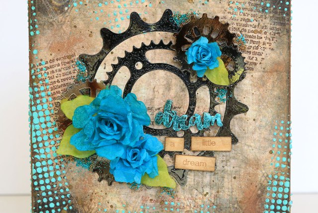 Dream A Little Dream Mixed Media Canvas by Juliana Michaels featuring Therm O Web DecoFoil, Mixed Media Sheets and Adhesives