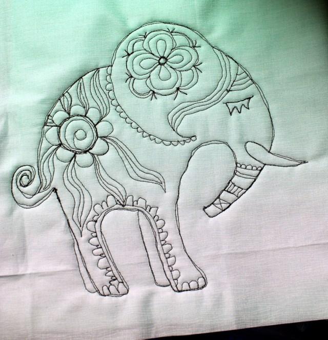 stitched elephant