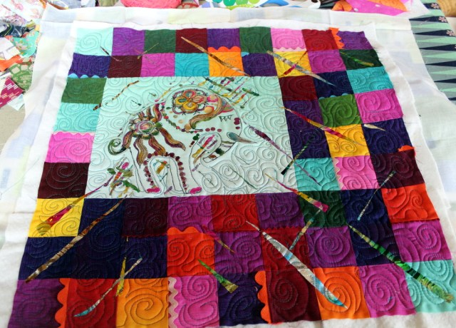 foiled and quilted elephant