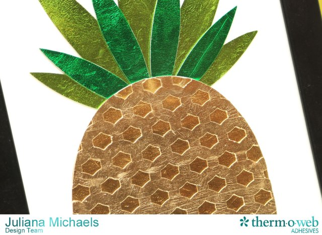 Pineapple Framed Wall Art by Juliana Michaels featuring Therm O Web DecoFoil and iCraft Foam Adhesive