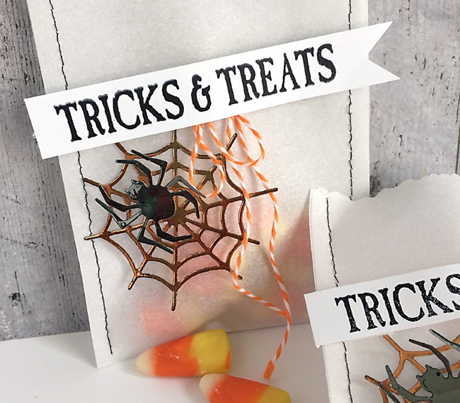 Trick or Treat bags featuring Deco Foil