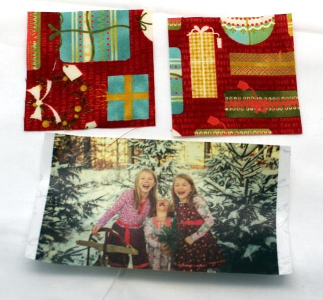 photo fabric and square fabrics
