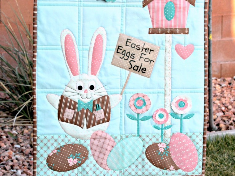 Easter Bunny's Garden HeatnBond Mini Quilt