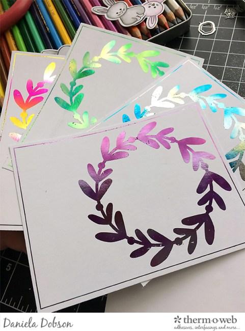 Foiled cards step 2 by Daniela Dobson