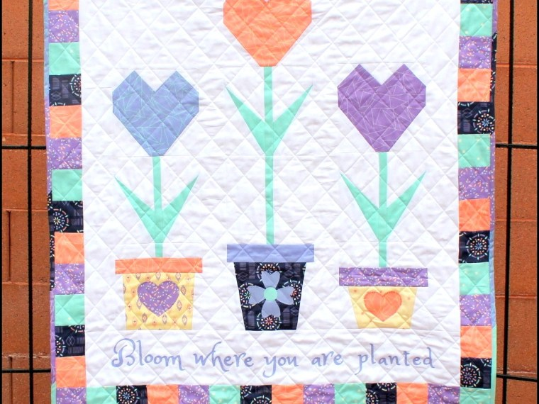 Bloom Where You Are Planted Quilt by Carol Swift