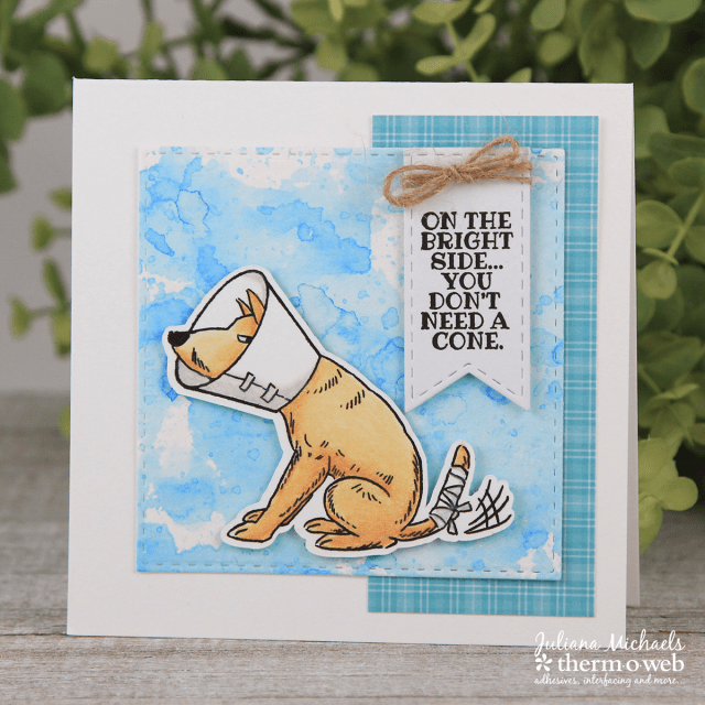 Get Well Cards by Juliana Michaels featuring Therm O Web Adhesives and Art Impressions Doggie Kisses Stamp Set