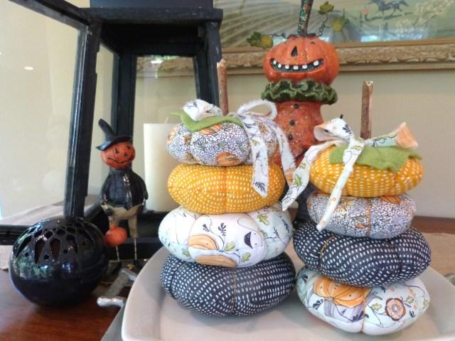 Fabric Pumpkin Stack
