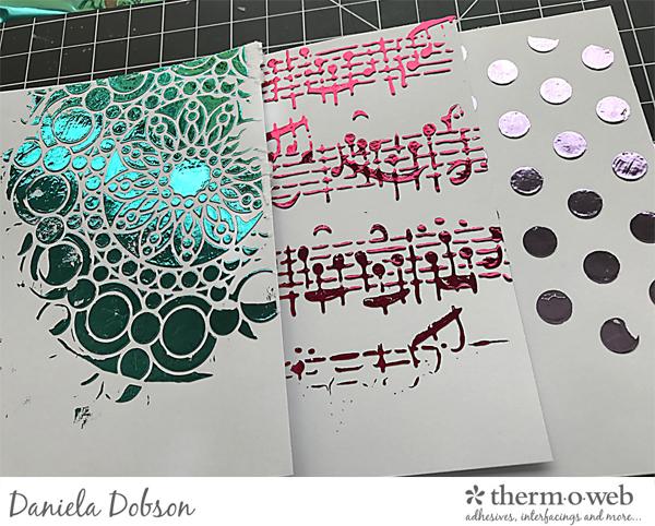 Step 3 Therm O Web Mixed Media by Daniela Dobson