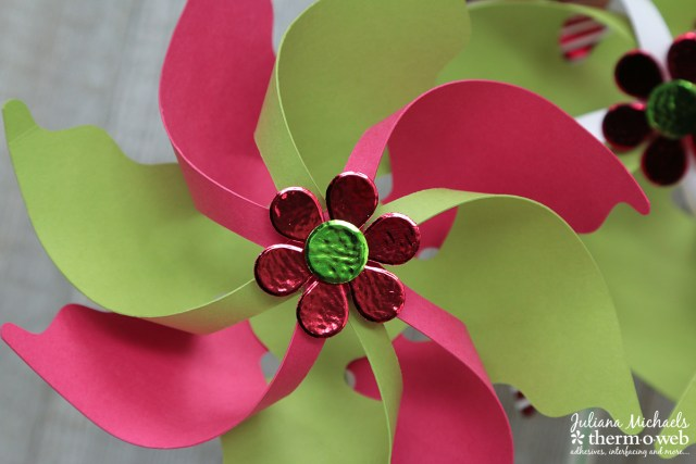 Summer Party Pinwheels by Juliana Michaels featuring Gina K Designs Foil Mates and Cardstock and Therm O Web Deco Foil and Adhesives