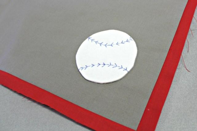 Baseball with HeatNBond Fusible Fleece by Carla Henton
