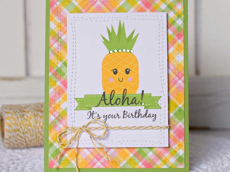 Pineapple Themed Card by Shemaine Smith