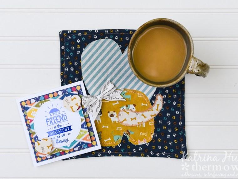 Dog Mug Rug and Gina K Designs Card