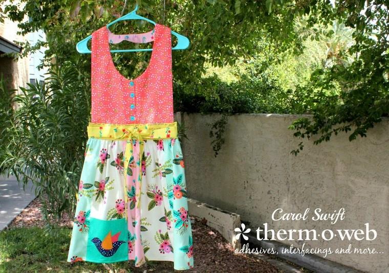 HeatnBond Fabric Apron by Carol Swift