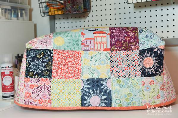 Sewing Machine Cover by Katrina Hunt using HeatnBond Fusible Fleece and SpraynBond