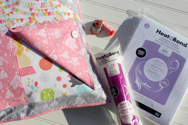 Supplies for Big Top Pillow Cover by Carla Henton for Thermoweb