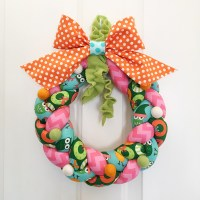 Braided Fabric Christmas Wreath by Designer Tamara Tripodi