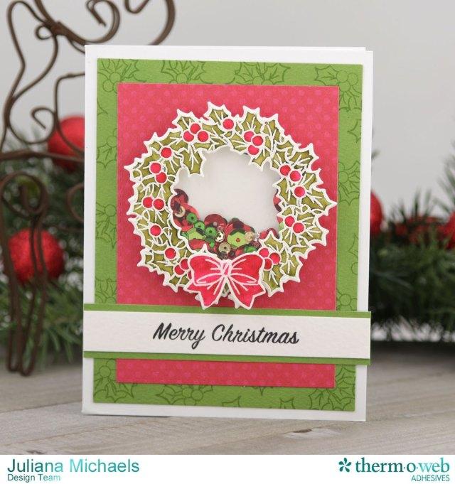 Wreath_Christmas_Shaker_Card_Juliana_Michaels_Therm_O_Web_Art_Impressions_01